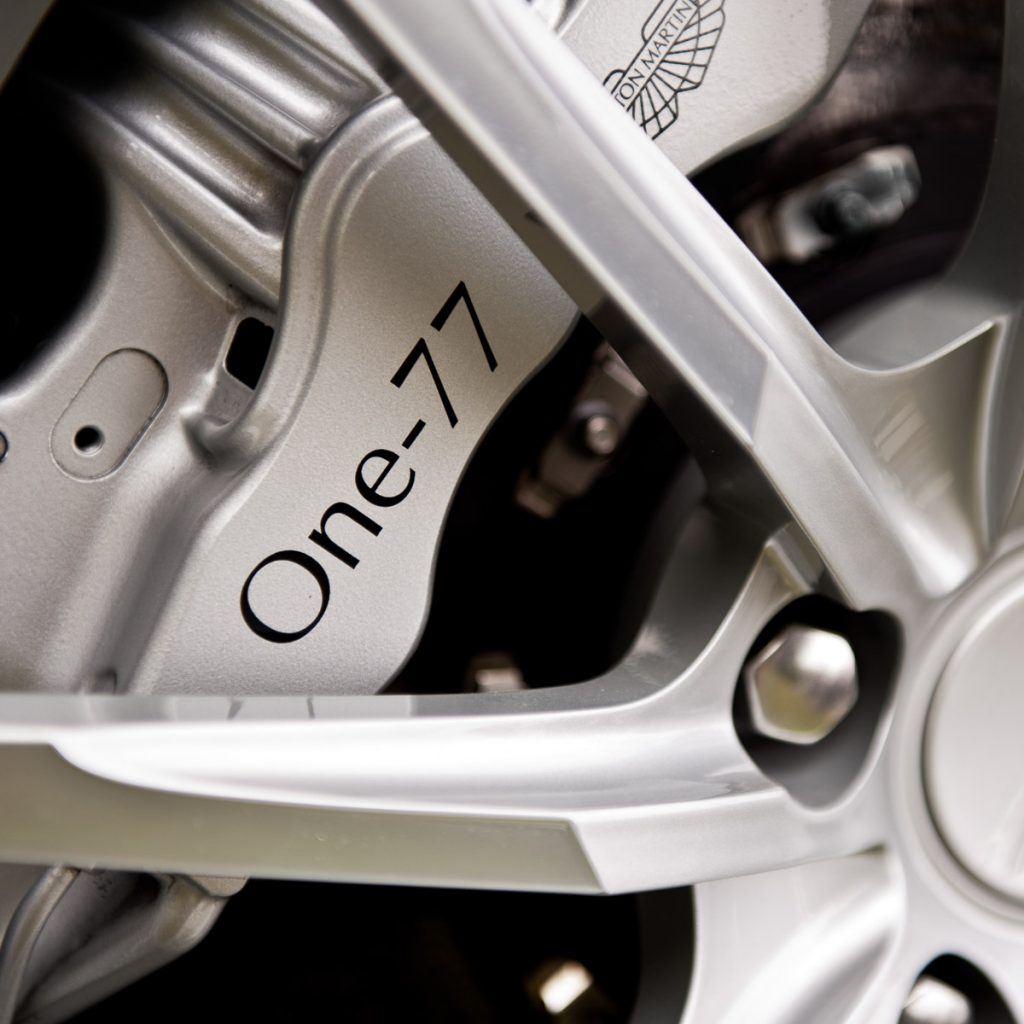 Aston Martin detail shot of brake caliper
