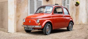 A Classic Fiat 500 automotive photograph